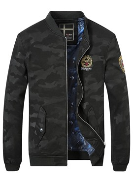 Ericdress Stand Collar Camouflage Print Men's Jacket