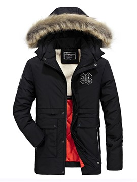 Ericdress Fur Collar Padded Warm Men's Winter Coat
