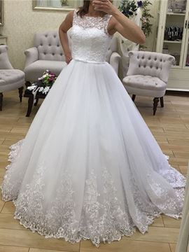 Ericdress Ball Gown Appliques Church Wedding Dress
