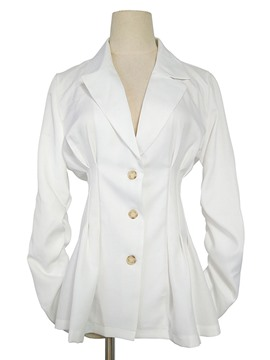 Ericdress slim plain revers single-breasted blazer