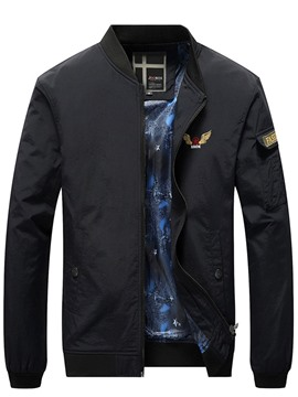 Ericdress Embroidery Stand Collar Men's Jacket
