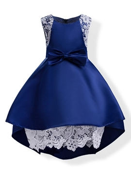 Ericdress Elegant Mesh Patchwork Sleeveless Bowknot Girl's Princess Dress