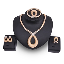 Ericdress Unique Design Gold Color Jewelry Set for Women