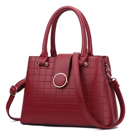 Ericdress Trendy Plaid Pattern PU Women Handbag