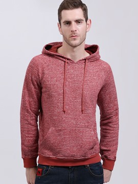 Ericdress Plain Pullover Casual Slim Men's Hoodie