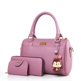 Ericdress Occident Style Solid Color Boston Handbag