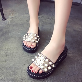 Ericdress Rivet Slip-On Women's Mules Shoes with Beads