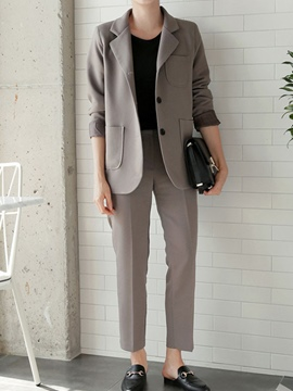 Ericdress Long Sleeves Notched Lapel Suits