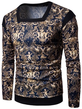 Ericdress U-Neck Unique Print Casual Men's Hoodie