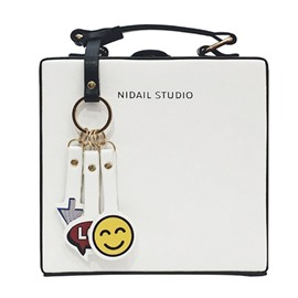 Ericdress Square Shape Smiley Pendant Crossbody Bag