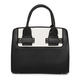 Ericdress Chic Patchwork Zipper Women Handbag