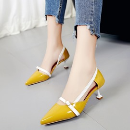 Ericdress Slip-On Color Block Stiletto Heel Pumps with Buckle