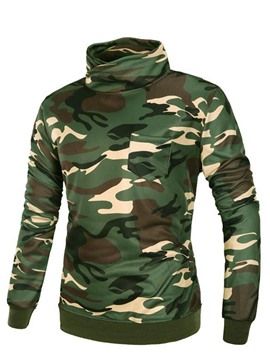 Ericdress Heap Collar Camouflage Casual Men's Hoodie