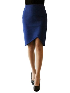 Ericdress Asymmetric Knee-Length Column Skirts