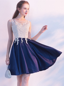 Ericdress A Line Applique Short/Mini Homecoming Dress