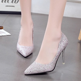 Ericdress Glitter Slip-On Plain Women's Pumps