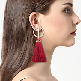 Ericdress Hot Circle Tassel Long Fashion Earring