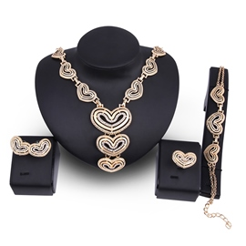 Ericdress Romantic Heart Pendant Jewelry Set for Women