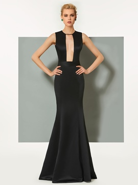 Ericdress Sheath Sexy Neck Floor Length Mermaid Evening Dress