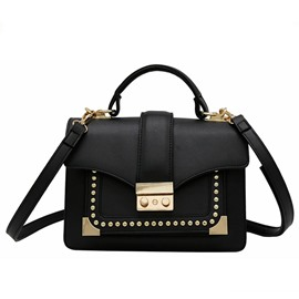 Ericdress Rivet Lock Decoration Crossbody Bag