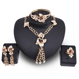 Ericdress Fabuous Flower Tassel Jewelry Sets Wedding Necklace Sets