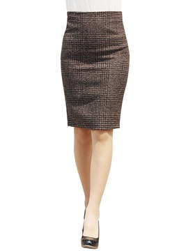 Ericdress Stripe Plaid Column Skirts