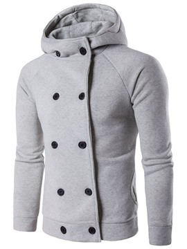 Ericdress Hooded Double-Breasted Men's Hoodie