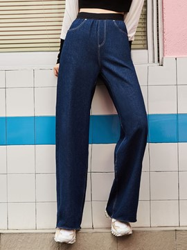 High-Waist Wide Legs Pocket Pants
