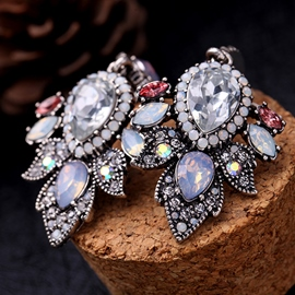 Ericdress Vintage Shining Diamante Waterdrop Alloy Earring