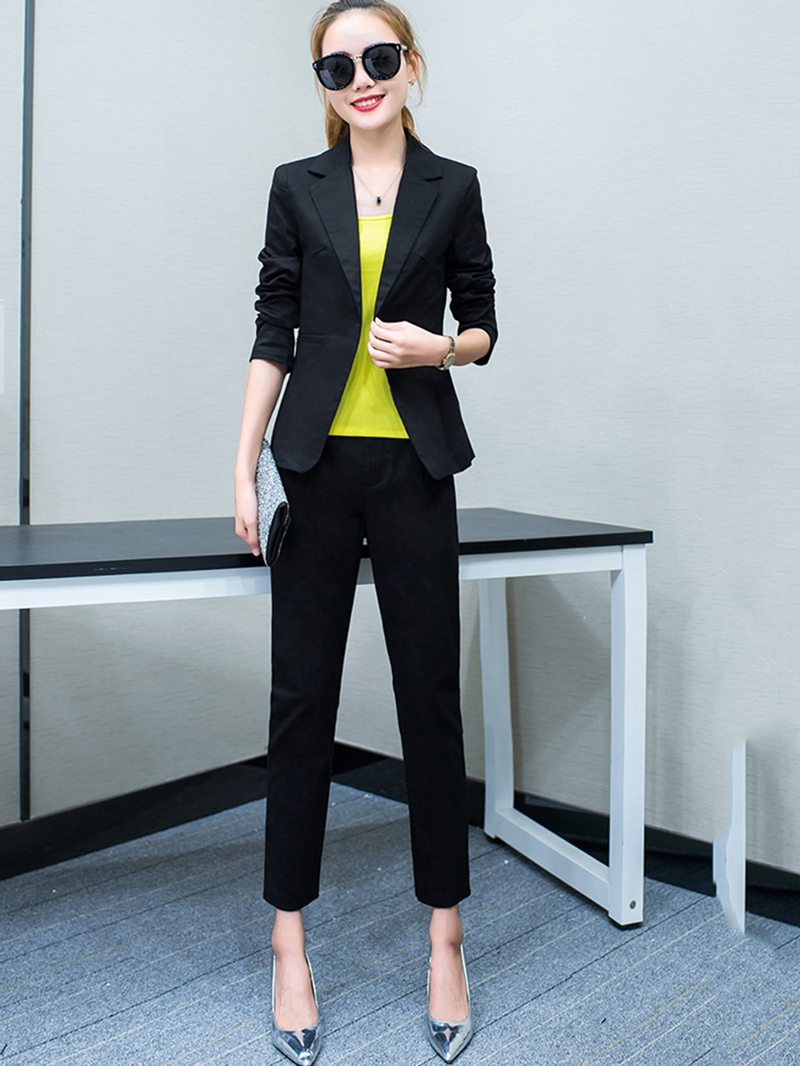 Ericdress_Nine_Points_Sleeves_One_Button_Suits
