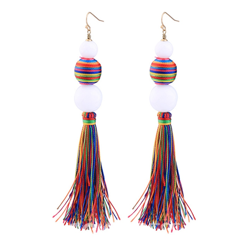 Ericdress Chic Colorful Tassel Personal Fashion Earring