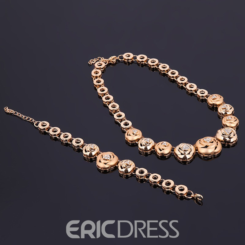 Ericdress Romantic Style Alloy Rose Wedding Jewelry Set