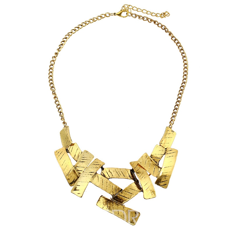 Ericdress Personal Gold Color Irregular Necklace for Women