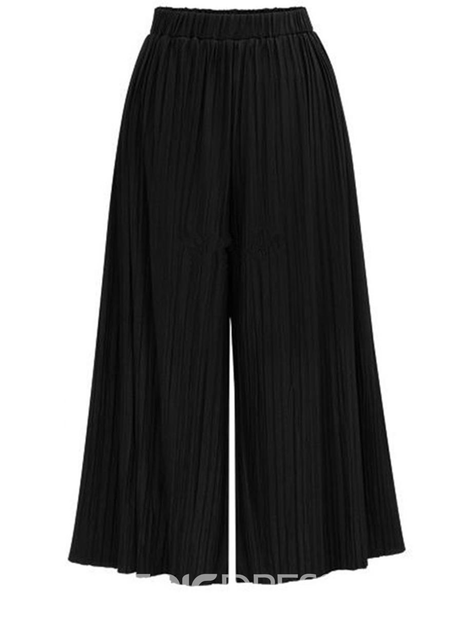 Ericdress High-Waist Elastics Pleated Pants
