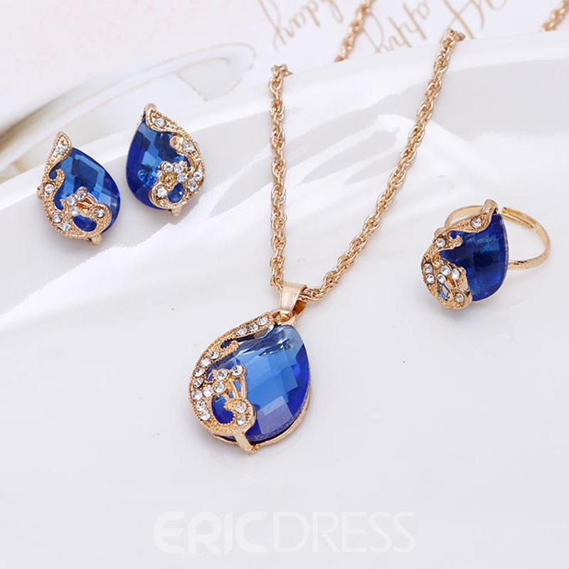 Ericdress Creative Peacock Three-Piece Women's Jewelry Set