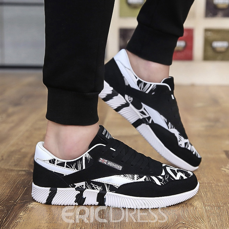 Ericdress Round Toe Color Block Print Men's Sneakers