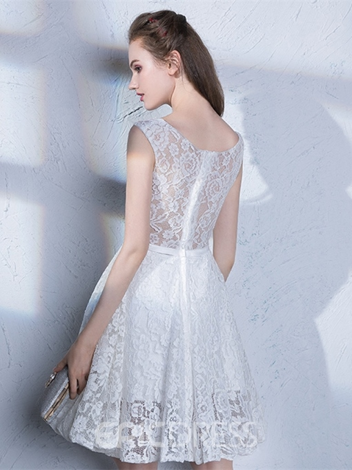 Ericdress A Line Straps Short Lace Homecoming Dress