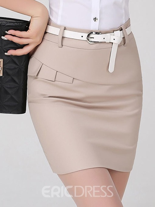 Ericdress Asymmetric Mini Skirt