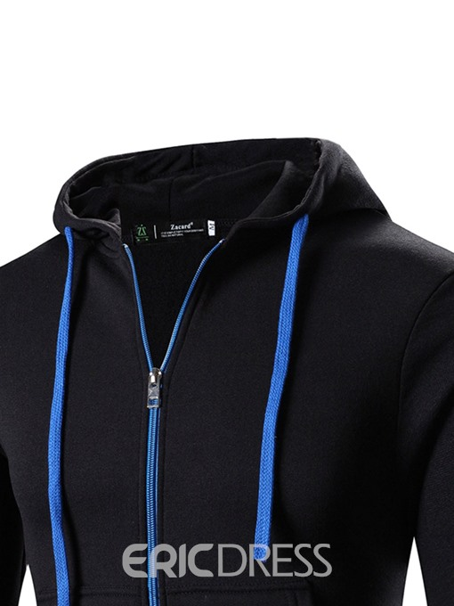 Ericdress Hooded Zipper Lace-Up Men's Hoodie