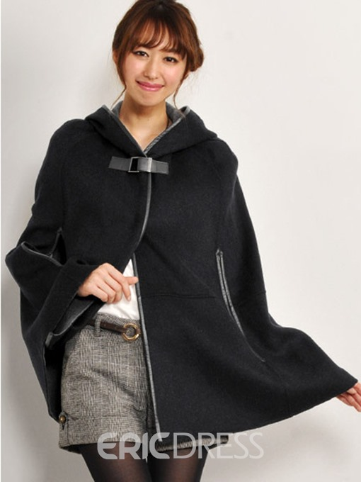 Ericdress Loose Plain Thick One Button Cape