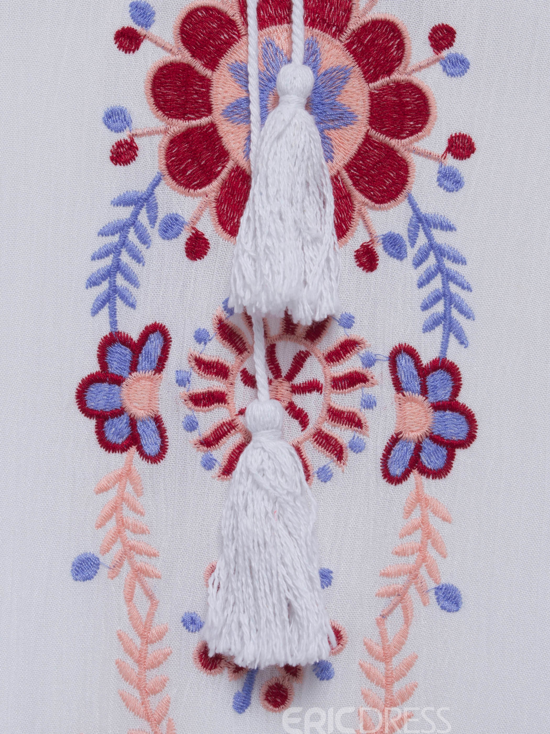 Bohoartist Floral Embroideried Women's Maxi Dress