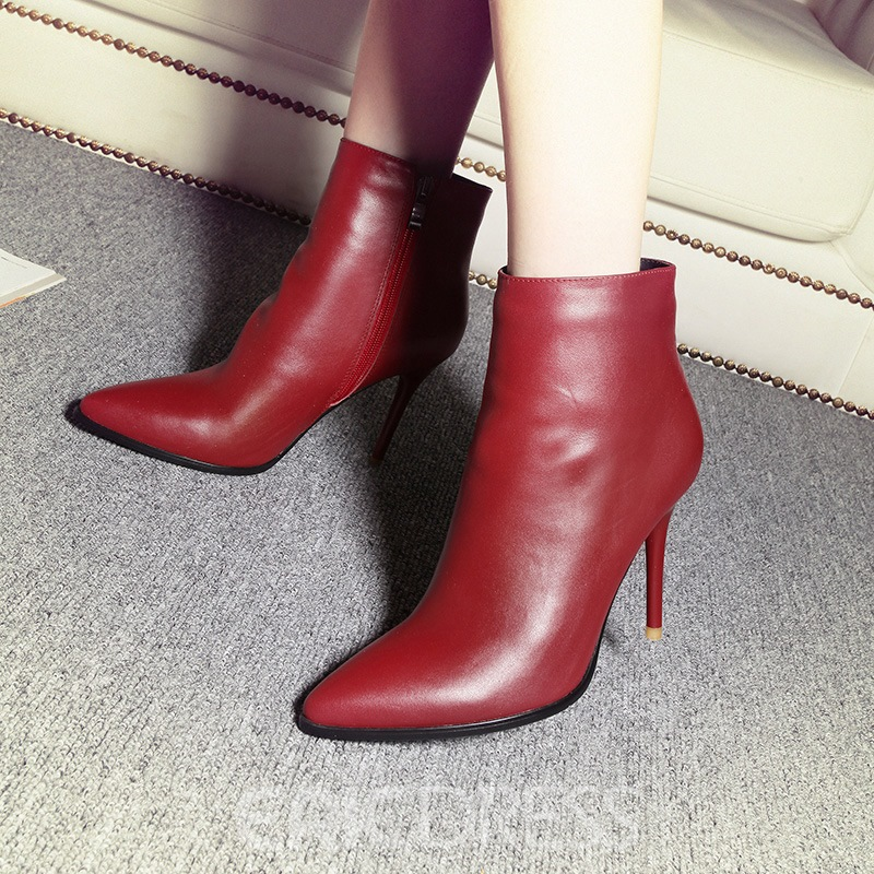 Ericdress Best-Selling Plain Pointed Toe High Heel Boots