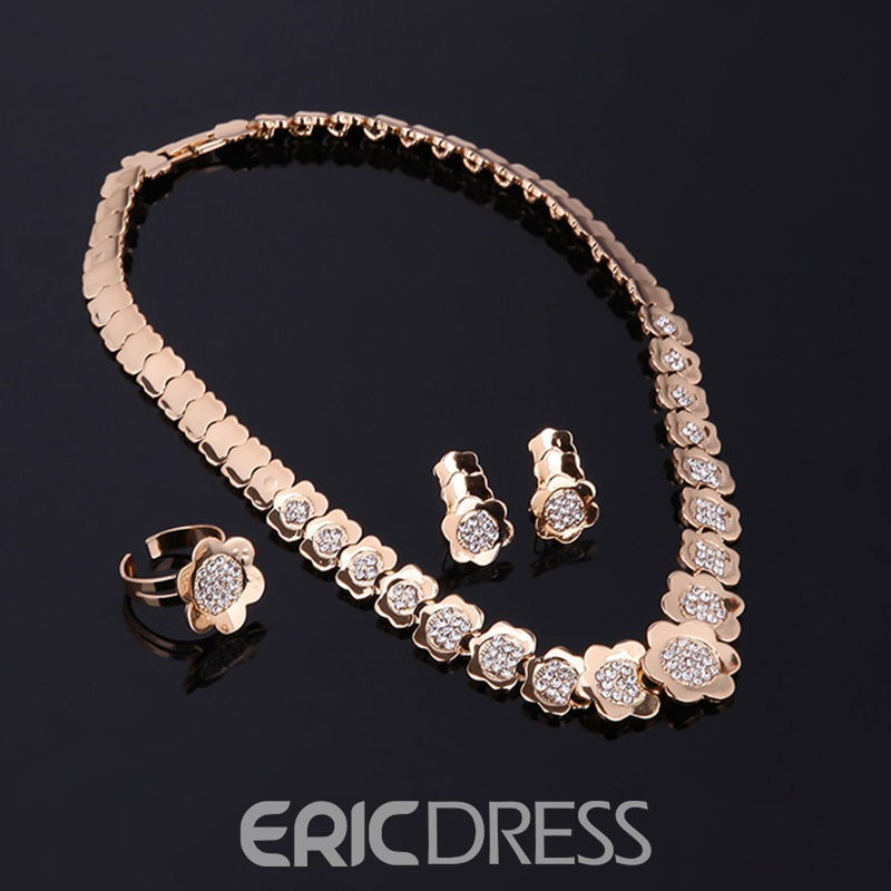 Ericdress Diamante Flower Accessories Jewelry Set