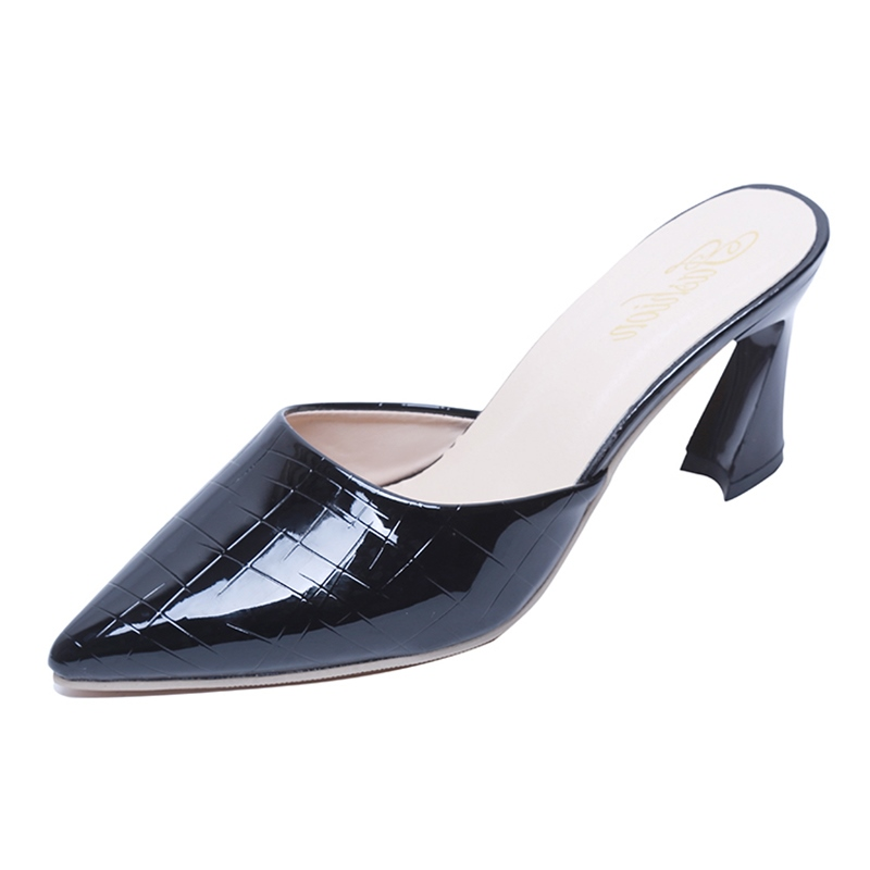 Ericdress Plain Slip-On Chunky Mules Shoes