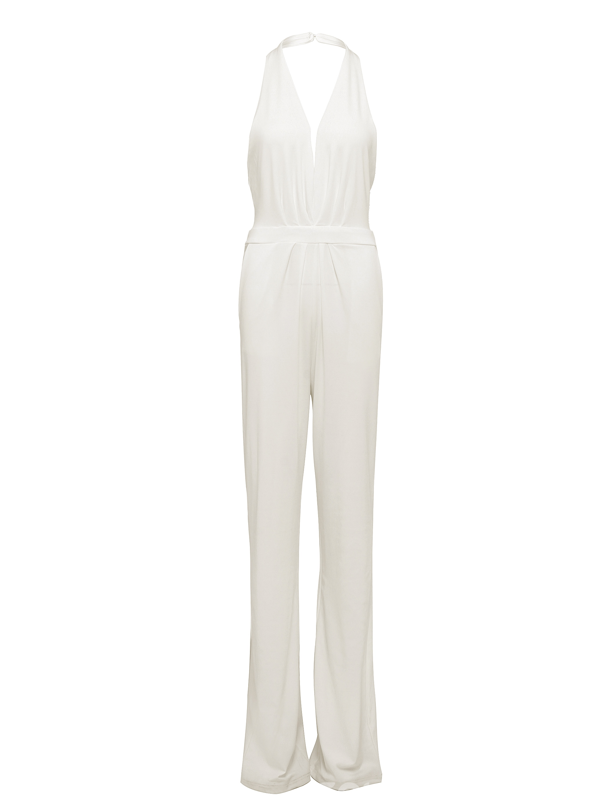 Ericdress V-Neck Sleeveless White Women's Jumpsuits