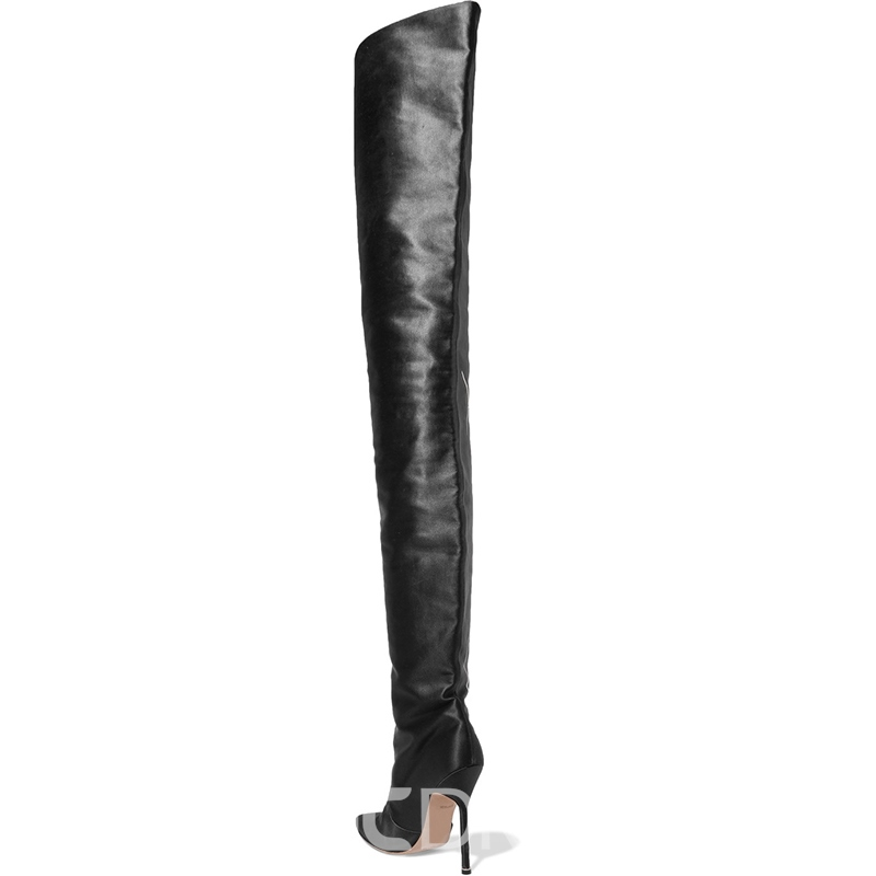 ec0867002dd Ericdress Fashionable Pointed Toe Slip-On Stiletto Heel Knee High Boots