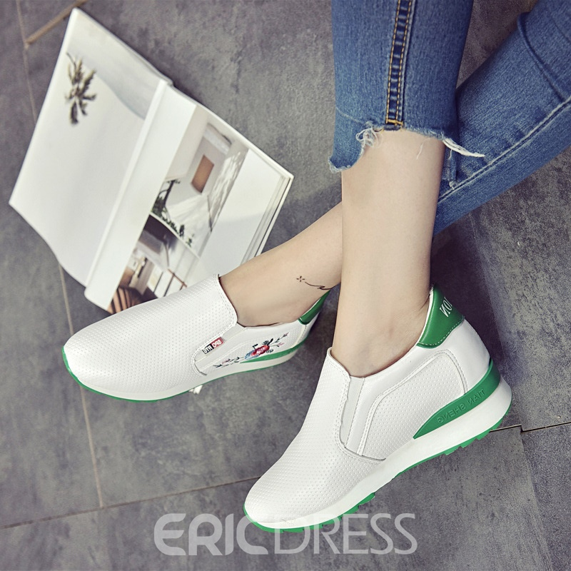 Ericdress Embroidery Floral Color Block Women's Sneakers