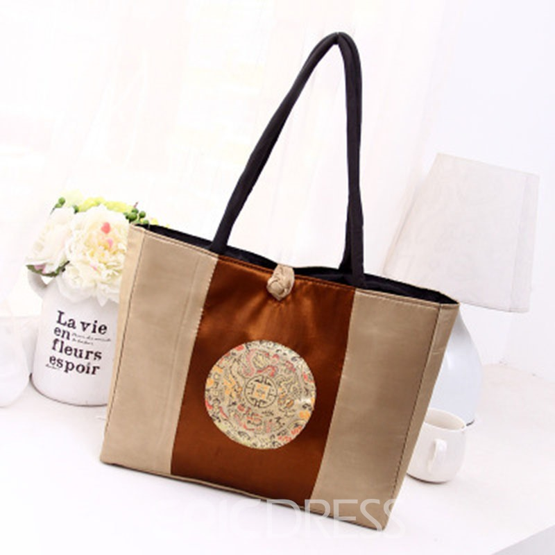 Ericdress Ethnic Style Floral Embroidered Shoulder Bag