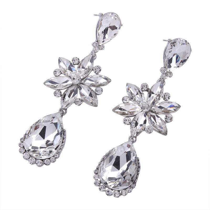Ericdress Luxurious Diamante Women's Drop Earring