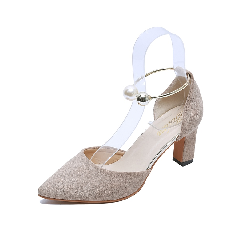 Ericdress Pointed Toe Slip-On Plain Pumps with Beads